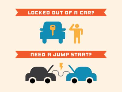key & battery assist graphics lock jump start service university battery key icon car