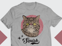 Squish - Cat Tshirt Design