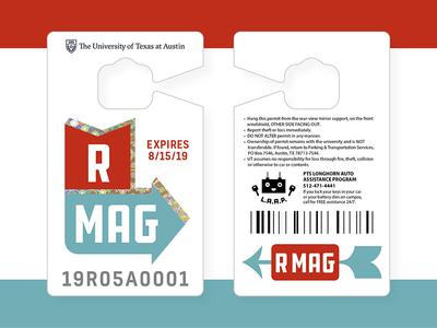 Parking Permit 2018/2019 university garage foil arrow tag permit parking