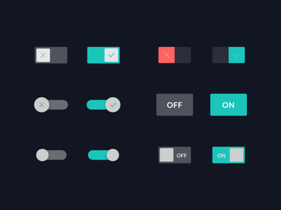 Toggle buttons switch off on turn button toggle