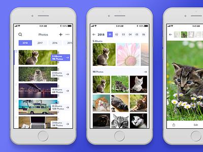 Photo Album Mobile App adobe xd grid prototype interaction app mobile album photo