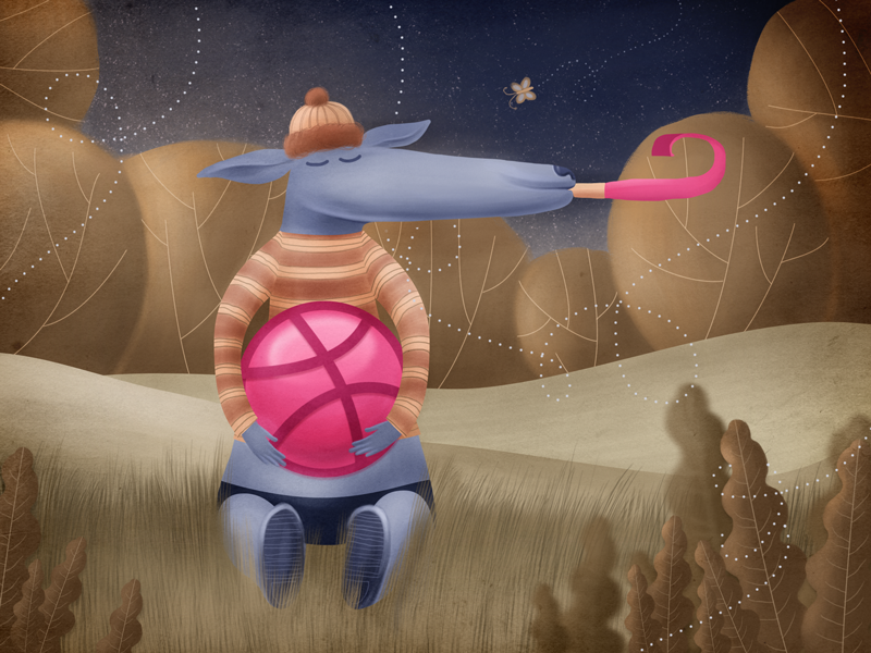 Hello Dribbble :) illustration
