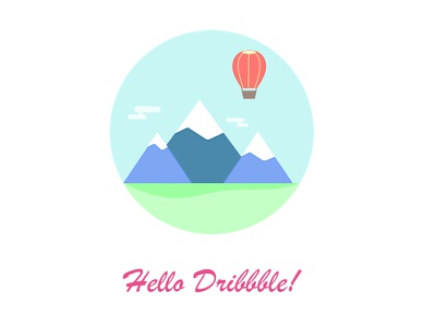 Hello Dribbble! hello mountains adventure