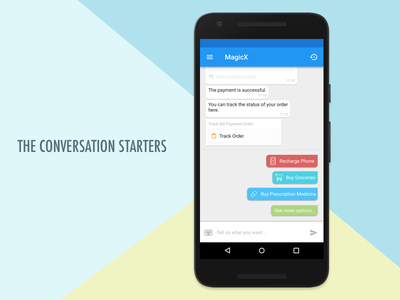 A new way to start conversations with Bots chat mobile app magicx bots