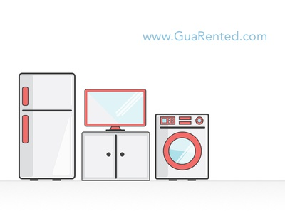 Home appliances illustrations