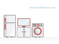 Home appliances illustrations