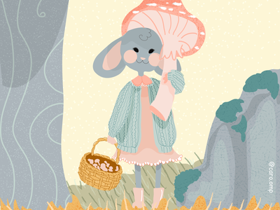 Little mouse - cozy october day 1 children book illustration childrens illustration cottagecore pastel colors illustration adobe illustrator