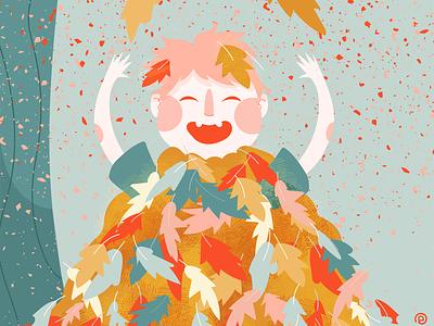 Cozy October Challenge - Day 6 childrens illustration children book illustration cute pastel colors illustration adobe illustrator