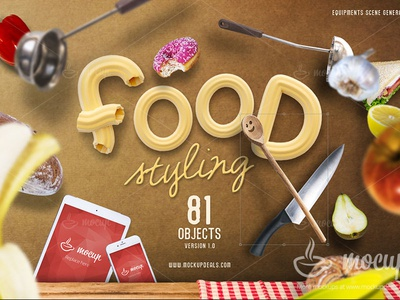 Food Styling PSD Scene Generator psd mockup mocup psd template iphone ipad macbook pro mock-up food kitchen chef