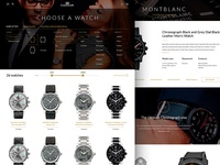 Luxury e-commerce design concept