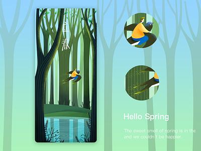 Hello Spring3 illustration design