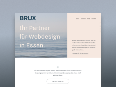 BRUX - Portfolio Relaunch website clean layout responsive fluid home portfolio pastel minimal webdesign