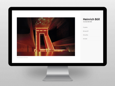 Website relaunch - Heinrich Böll flat fluid white bright minimal architecture architect responsive webdesign