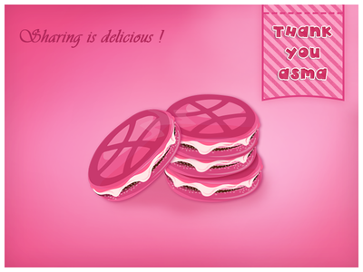 Sharing is just delicious ! sharing gift delicious macaron invitation dribble