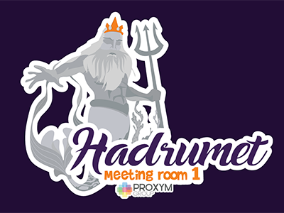 Sticker for meeting room