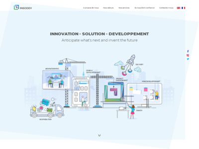 Home page services & project process illustration