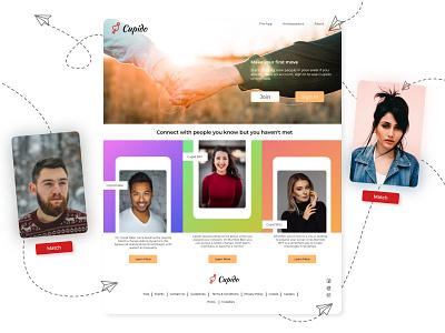 Cupido dating figma uxdesign uidesign mockup brand design logo product 3d webdesign visual ux ui minimal drop shadow branding