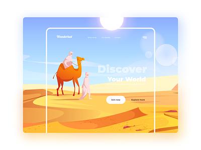 Travel  DRII yellow blog visualization visual design travel art product branding webdesign visual ui ux minimal typography