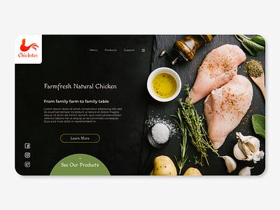 Chickster DRII drop shadow logo figma ui design web product 3d branding webdesign visual ux ui uiux typography minimal