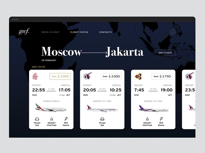 Booking airline tickets emirates jakarta moscow airline ticket luxury booking search flight interface ui