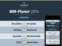 World Cup 2014 Planner