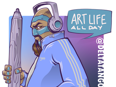 Art Life All Day drawdaily digital drawing deltatangomike illustration vector adobe art