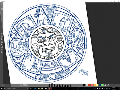 Azteca Moderno - Pencil Wars surface sketchableapp digital pencil dtm aztec