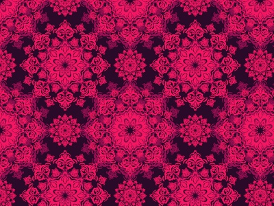 Pink pattern vector seamless illustration damask pattern wallpaper fractal