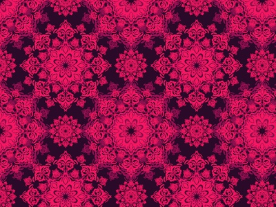 Pink pattern vector seamless illustration damask pattern wallpaper fractal