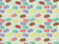 Cute French macaroons pattern