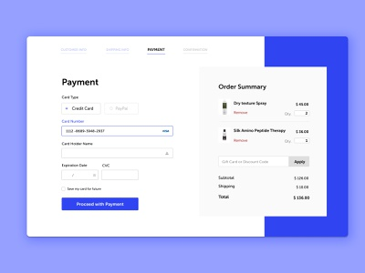 Credit Card Checkout Design dailyuichallenge web ui