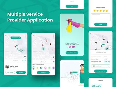 Multiple Service Provider Application UI vector ui illustration design app
