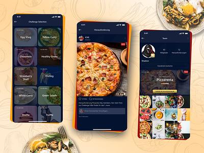Food Application Designs vector ui illustration design app