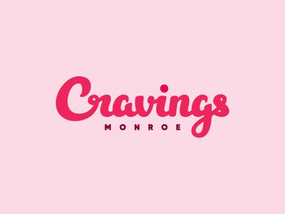 Cravings identity wordmark logotype typography logo lettering script