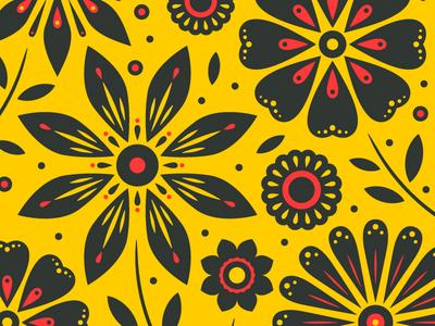 Floral Doodles illustration pattern floral flower ornate