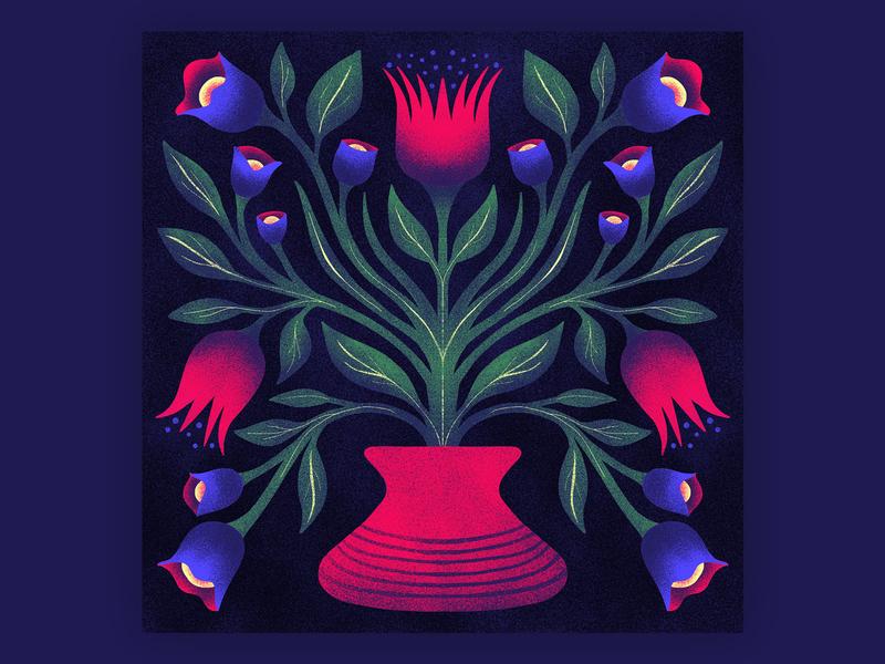 Vase texture symmetrical symmetry plant illustration flower illustration floral illustration floral design flower floral
