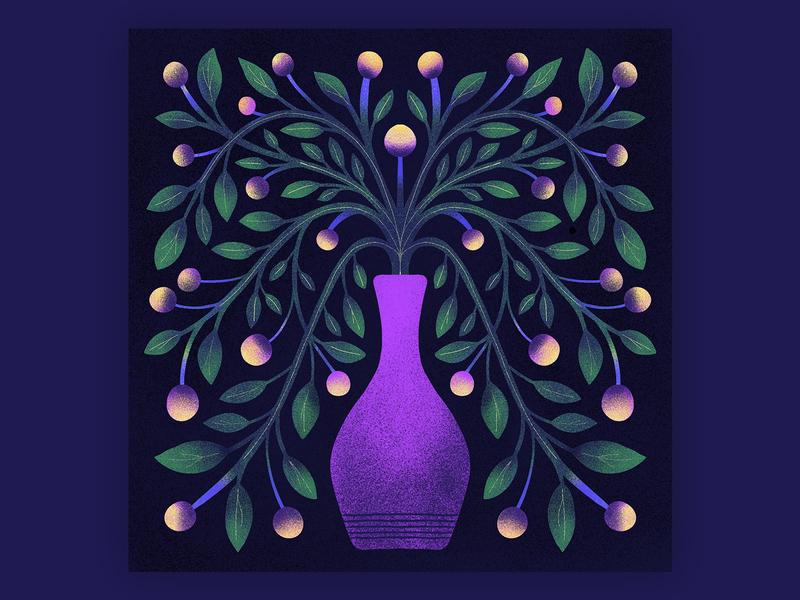 Vase design illustration design floral design vase flowers symmetrical symmetry illustration plant floral illustration flower illustration flower floral