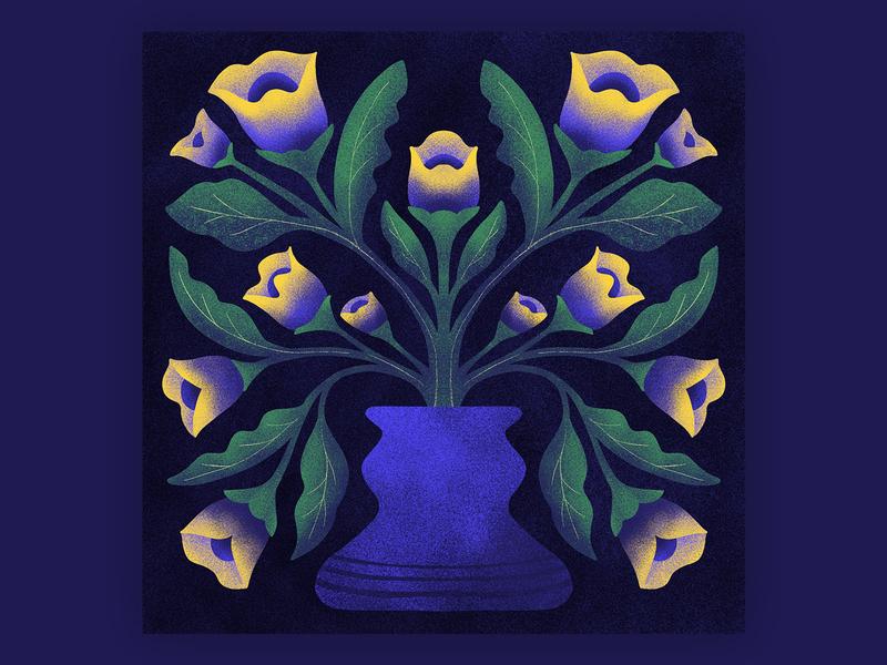 Vase vase plant symmetrical symmetry flower illustration floral illustration floral design flower floral