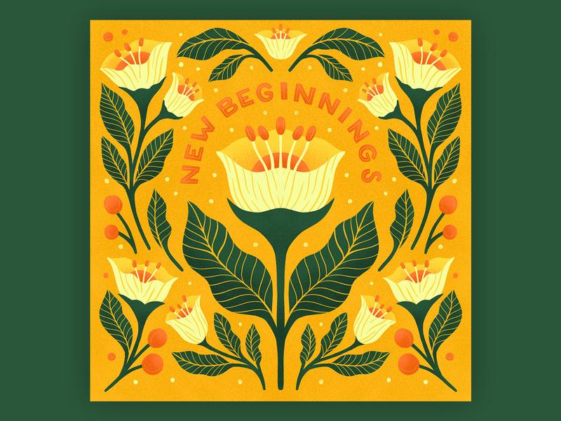New Beginnings procreate floral pattern symmetry symmetrical ornate flower illustration pattern floral illustration plant illustration flower floral