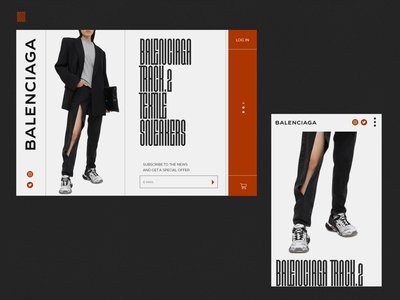 Balenciaga. 2021 lux branding tipography designer minimal web ux ui creative new