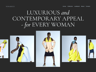 Nina Ricci branding minimal tipography lux designer creative web ui ux new