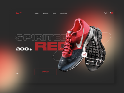 Nike designer creative branding lux design minimal web ui ux new