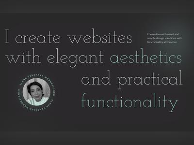 Designer Venskaya site minimal lux tipography designer creative web ui ux new