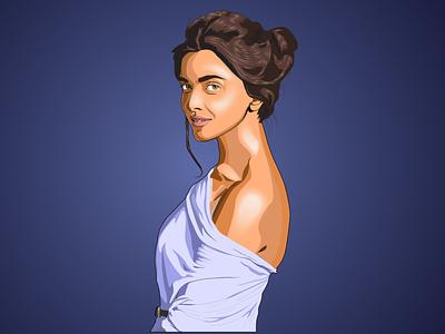Deepika Vector Art vector design vectorart vector illustration design