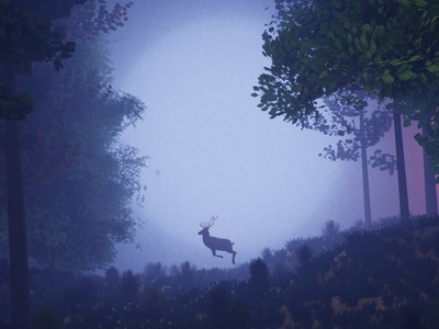 Foggy Jungle jungle night design blender3d 3d modeling