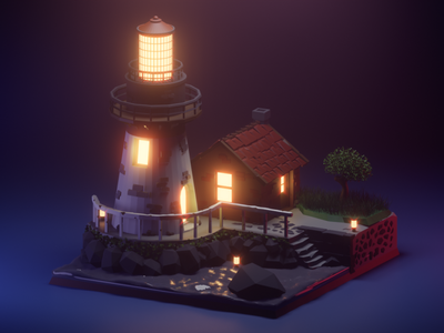 Lighthouse lowpoly3d lowpoly design blender3d