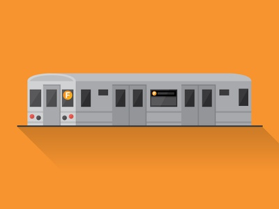 F Train NYC metro illustration city flat design vector ny nyc train
