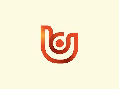 United Constructions wip red orange vector mark identity branding brand logo