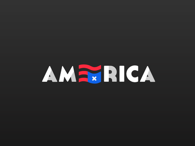 AM∃RICA logo illustration america