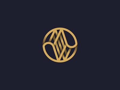 MW Monogram Mark illustrator brand vector letter letterform grid typography type mark logo monogram